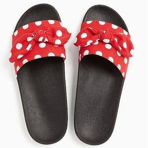 Torrid DISNEY MINNIE MOUSE RED POLKA DOT BOW SLIDE